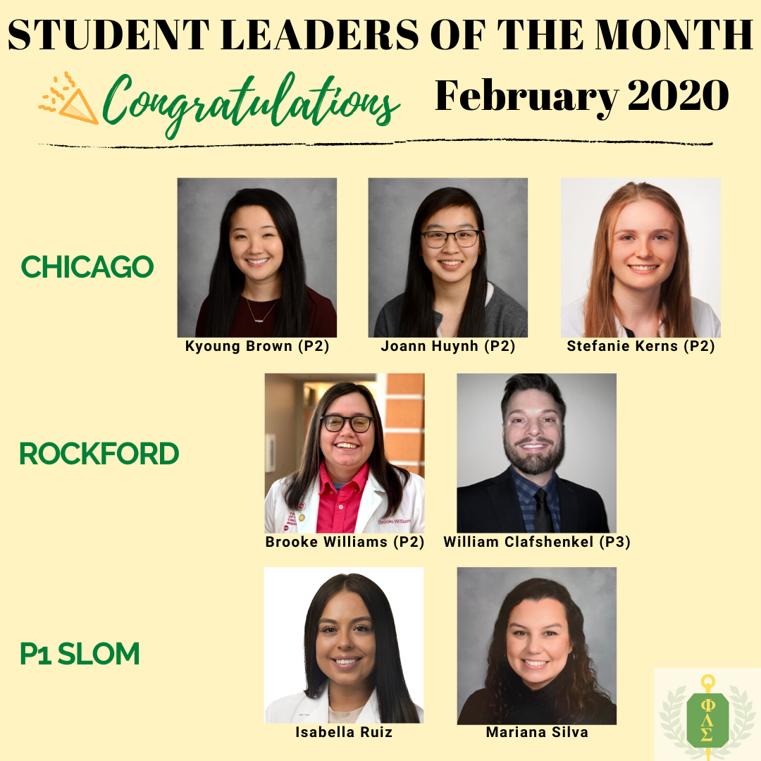 February Student Leaders of the Month